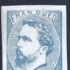 Sellos: EDIFIL 156A CARLOS VII. 1873. CORREO CARLISTA (SIN TILDE SOBRE LA Ñ). FALSO FILATÉLICO. MNG.. Lote 261300335