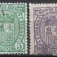 Sellos: ESPAÑA 1875 EDIFIL 154/155 USADO - 19/22. Lote 261923180