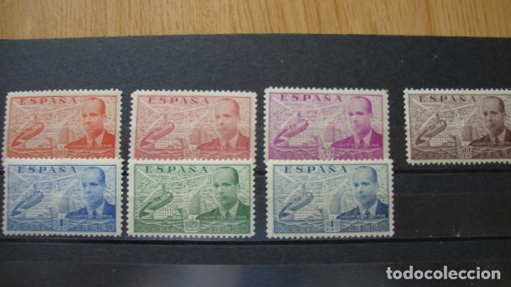 ESPAÑA 1939 JUAN DE LA CIERVA EDIFIL 880/86 NUEVOS SIN CHARNELAS (Sellos - España - Amadeo I y Primera República (1.870 a 1.874) - Nuevos)