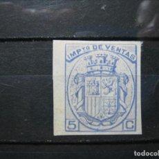 Sellos: ESPAÑA IMPUESTO DE VENTAS 5 CTS. SIN DENTAR MH* BORDE DE HOJA LUJO!!!. Lote 266488838