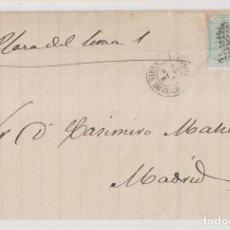 Timbres: CARTA ENTERA. LA RESINERÍA SEGOVIANA. COCA, 1873. SEGOVIA A SANTA MARÍA DE NIEVA.. Lote 267518884