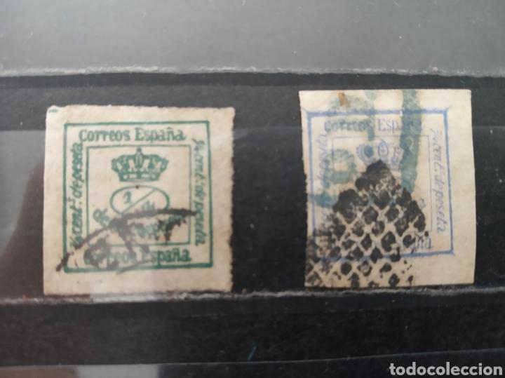 ESPAÑA. 1/4 DE CÉNTIMO DE PESETA. EDIFIL 115 Y 130 (Sellos - España - Amadeo I y Primera República (1.870 a 1.874) - Usados)