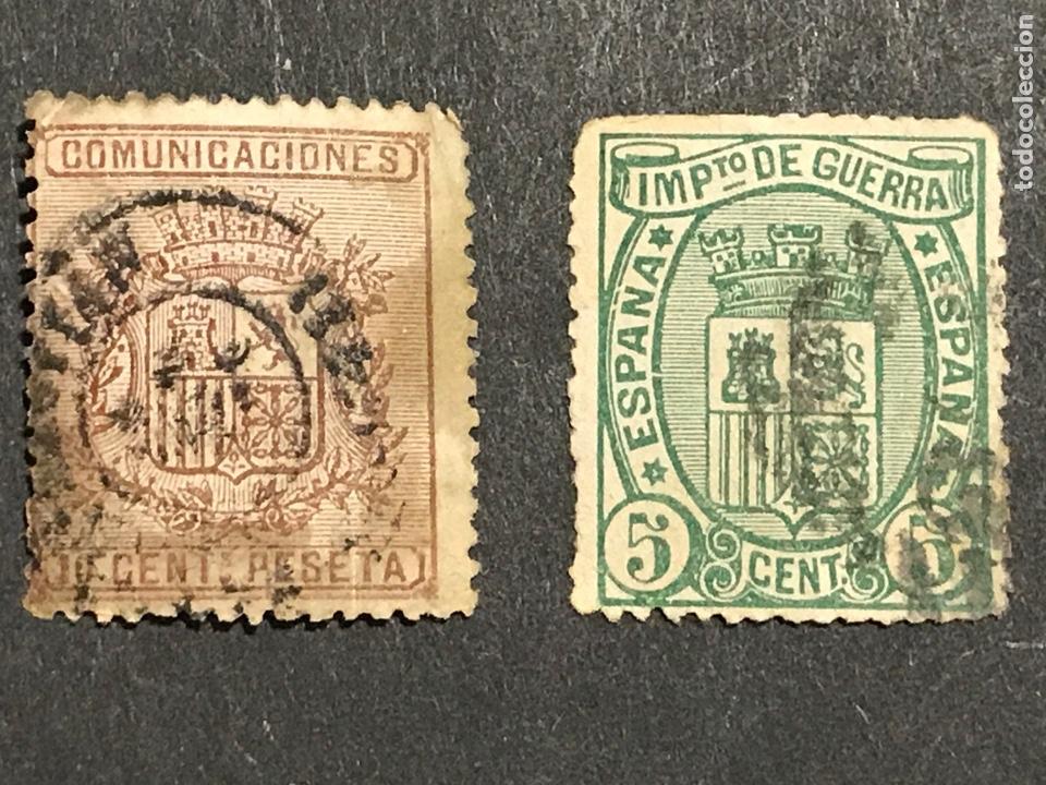 EDIFIL 153A Y 154 USADOS, VER FOTOS (Sellos - España - Amadeo I y Primera República (1.870 a 1.874) - Usados)