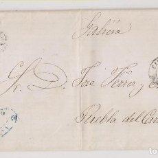 Sellos: CARTA ENTERA. CARTAGENA A PUEBLA DE CARAMIÑAL, CORUÑA. 1870. RARO FECHADOR DE LLEGADA. Lote 268989799