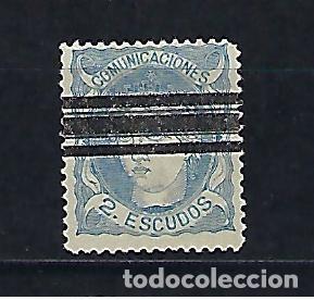 ESPAÑA. AÑO 1870. EFIGIE ALEGÓRICA DE ESPAÑA. REGENCIA DEL GENERAL SERRANO. 2 ESCUDOS AZUL. (Sellos - España - Amadeo I y Primera República (1.870 a 1.874) - Usados)