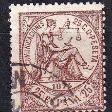 Sellos: SELLOS ESPAÑA OFERTA AÑO 1874 EDIFIL 147 EN USADO VALOR DE CATALOGO 12.5 €. Lote 269944028