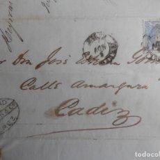 Timbres: CARTA AÑO 1870 FECHADOR JEREZ CÁDIZ SOBRE EDIFIL 107. Lote 272064528