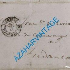 Timbres: 1870, CARTA CIRCULADA DESDE VILLADA A TUDANCA,MARCA VALLE DE CABUERNIGA Y AMBULANTE CORREO DE GALICI. Lote 274536518