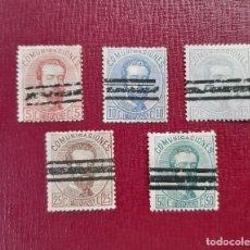 Selos: ESPAÑA 1872. EDIFIL 118,121,122,124 Y 126. Lote 275098223