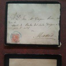 Sellos: LOTE DE 10 SOBRES CORREOS Y TELÉGRAFOS. YECLA MURCIA. 1886.. Lote 275705593