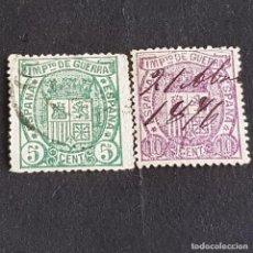 Sellos: ESPAÑA, 1875, ESCUDO DE ESPAÑA, EDIFIL 154-155, COMPLETA, USADOS, ( LOTE AR ). Lote 276723018