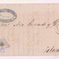 Selos: BONITA CARTA FÁBRICA DE CERILLAS. VITORIA. 1871. MATRONA. PAÍS VASCO. Lote 278288198