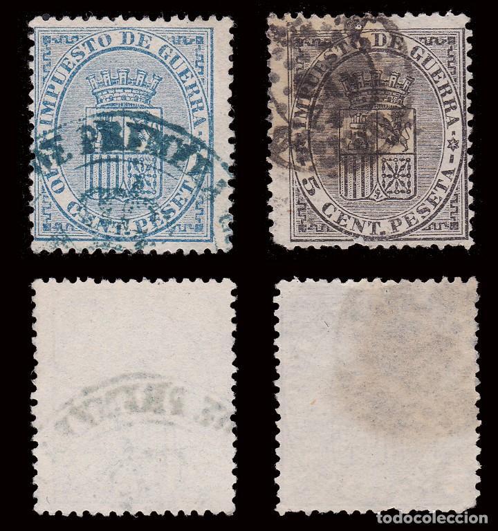Sellos: 1874.Escudo de España.Usado.Edifil 141-142 - Foto 2 - 278964218