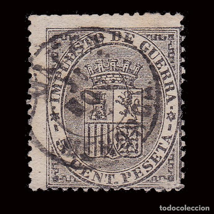 1874. ESCUDO ESPAÑA.5C.FECHADOR MAHON MENORCA.EDIFIL 141 (Sellos - España - Amadeo I y Primera República (1.870 a 1.874) - Usados)