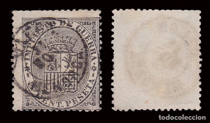 Sellos: 1874. Escudo España.5c.Fechador MAHON MENORCA.Edifil 141 - Foto 2 - 278965348