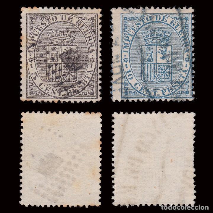 1874. ESCUDO DE ESPAÑA.USADO.EDIFIL 141-142 (Sellos - España - Amadeo I y Primera República (1.870 a 1.874) - Usados)