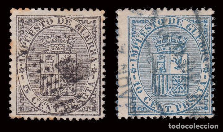 Sellos: 1874. Escudo de España.USADO.Edifil 141-142 - Foto 2 - 278966078