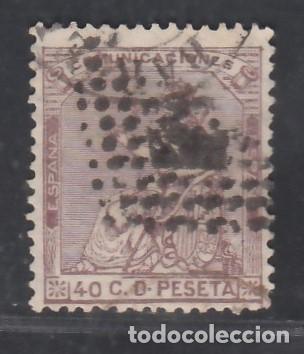 ESPAÑA, 1873 EDIFIL Nº 136, 40 C. CASTAÑO VIOLETA. (Sellos - España - Amadeo I y Primera República (1.870 a 1.874) - Usados)
