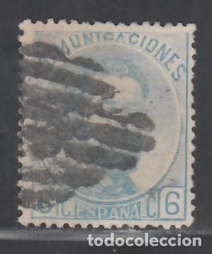 ESPAÑA, 1872 EDIFIL Nº 119, 6 C. AZUL. (Sellos - España - Amadeo I y Primera República (1.870 a 1.874) - Usados)