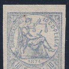 Francobolli: EDIFIL 145S ALEGORÍA DE LA JUSTICIA 1874. SIN DENTAR. VALOR CATÁLOGO: 23 €. LUJO. MNH **. Lote 285256843