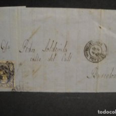 Sellos: CARTA CIRCULADA - DE IGUALADA A BARCELONA - AÑO 1870. Lote 287310353