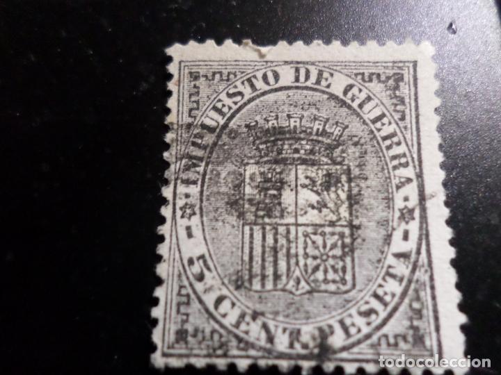 1874, IMPUESTO DE GUERRA,ESCUDO DE ESPAÑA, EDIFIL 141 (Sellos - España - Amadeo I y Primera República (1.870 a 1.874) - Usados)