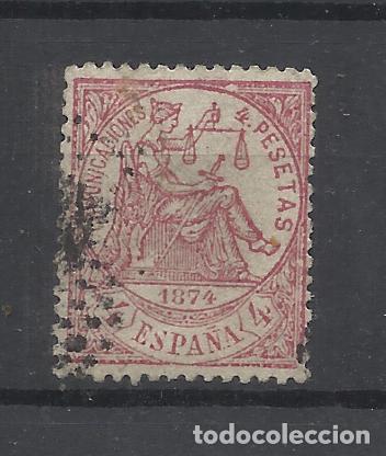 ALEGORIA REPUBLICANA 1874 EDIFIL 151 USADO VALOR 2018 CATALOGO 735.- EUROS (Sellos - España - Amadeo I y Primera República (1.870 a 1.874) - Usados)