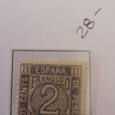 Sellos: SELLO DE ESPAÑA 1872 CIFRAS 2 CENTS DE PESETA EDIFIL 116 NUEVO. Lote 289630573