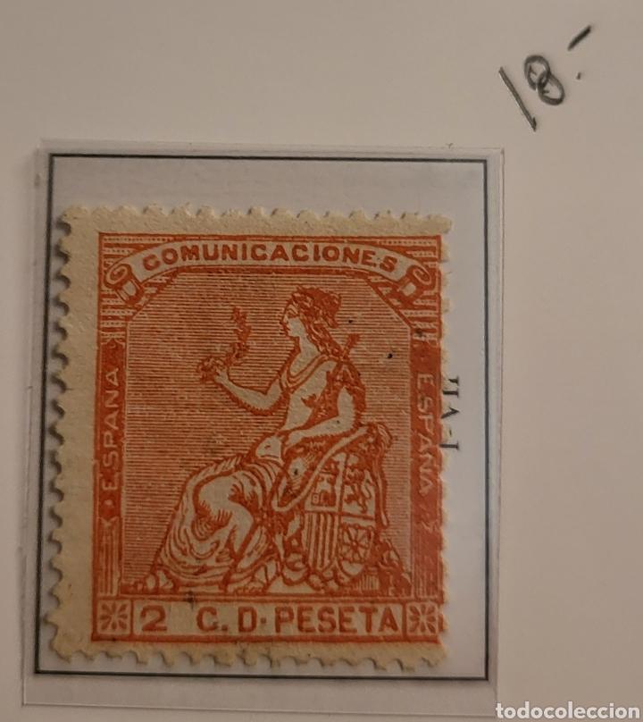 SELLO DE ESPAÑA 1873 ALEGORÍA DE LA REPÚBLICA 2 C D PESETA EDIFIL 131 NUEVO (Sellos - España - Amadeo I y Primera República (1.870 a 1.874) - Nuevos)