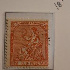Sellos: SELLO DE ESPAÑA 1873 ALEGORÍA DE LA REPÚBLICA 2 C D PESETA EDIFIL 131 NUEVO. Lote 289638463