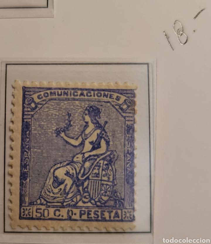 SELLO DE ESPAÑA 1873 ALEGORÍA DE LA REPÚBLICA 50 C D PESETA EDIFIL 137 NUEVO (Sellos - España - Amadeo I y Primera República (1.870 a 1.874) - Nuevos)