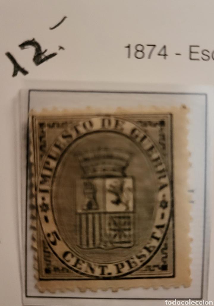 SELLO DE ESPAÑA 1874 ESCUDO DE ESPAÑA 5 CENT. DE PESETA EDIFIL 141 NUEVO (Sellos - España - Amadeo I y Primera República (1.870 a 1.874) - Nuevos)