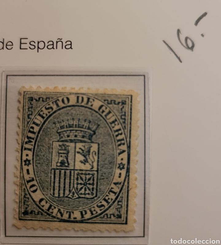 SELLO DE ESPAÑA 1874 ESCUDO DE ESPAÑA 10 CENT. DE PESETA EDIFIL 142 NUEVO (Sellos - España - Amadeo I y Primera República (1.870 a 1.874) - Nuevos)
