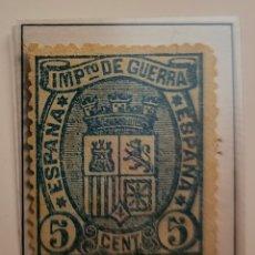 Sellos: SELLO DE ESPAÑA 1874 ESCUDO DE ESPAÑA 5 CENT. DE PESETA EDIFIL 154 NUEVO. Lote 289639153