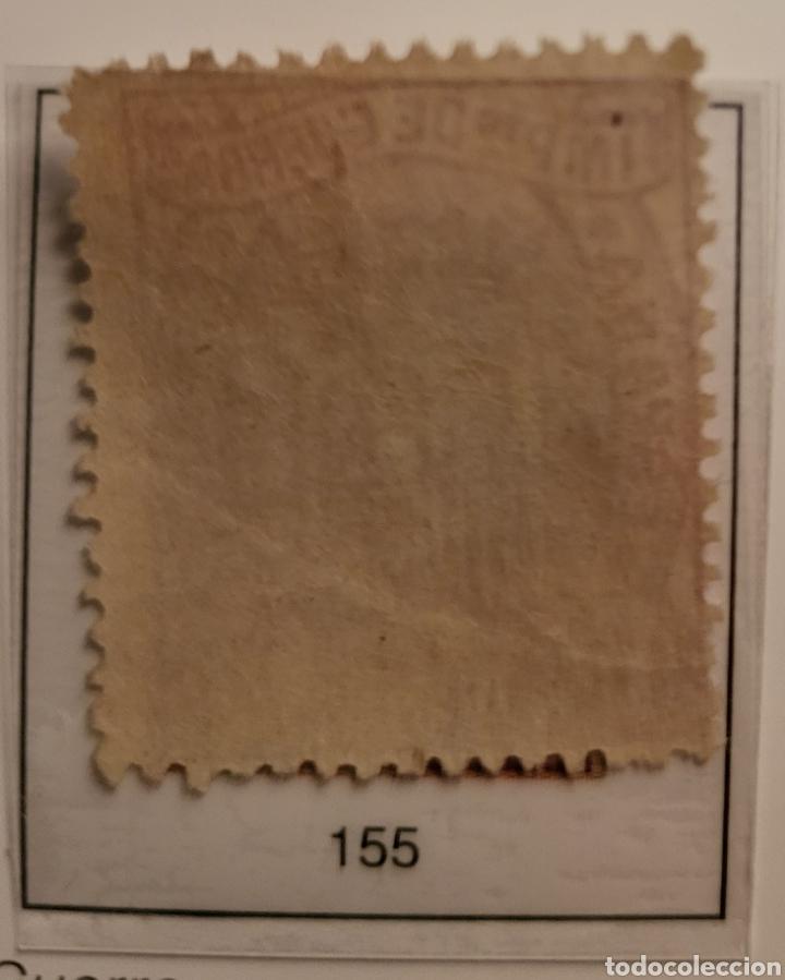 Sellos: Sello de España 1874 Escudo de España 10 cent. de peseta Edifil 155 Nuevo - Foto 2 - 289639223