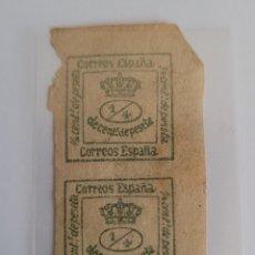 Sellos: SELLO DE ESPAÑA 1872 1/4 DE CENT DE PESETA. Lote 292962823