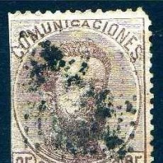 Sellos: GIROEXLIBRIS.- ESPAÑA.- 1872.- AMADEO I EDIFIL Nº 125 25CENTIMOS CASTAÑO SELLOS USADOS. Lote 295431683