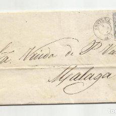 Sellos: CIRCULADA Y ESCRITA 1872 DE SEVILLA A MALAGA. Lote 295807818