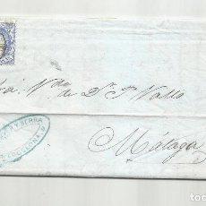 Sellos: CIRCULADA Y ESCRITA SIN VARIACION EN EL MERCADO ALGODONERO 1870 DE BARCELONA A MALAGA. Lote 295808168