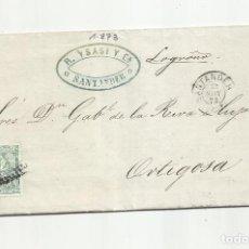 Sellos: CIRCULADA Y ESCRITA 1873 DE DROGUERIA DE SANTANDER A ORTIGOSA LOGROÑO. Lote 295808818