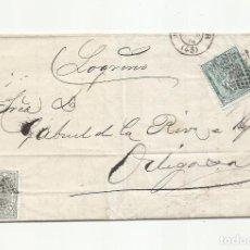 Sellos: CIRCULADA Y ESCRITA 1874 DE SANTANDER A ORTIGOSA LOGROÑO. Lote 295809133
