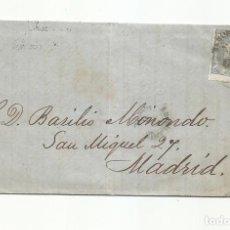 Sellos: CIRCULADA Y ESCRITA 1871 DE PASAJES GUIPUZCOA A MADRID CON FECHADOR AMBULANTE NORTE. Lote 295809898