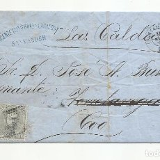 Sellos: CIRCULADA Y ESCRITA ULTIMATUM REQUERIMIENTO DE PAGO 1872 DE SANTANDER A TORRELAVELA I DE ALLI A TOO. Lote 295810463