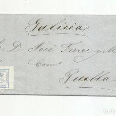 Sellos: CIRCULADA Y ESCRITA NEGOCIO PESCADOS 1872 DE VALENCIA A PUEBLA DEL DEAN EDIFIL 115. Lote 295812668
