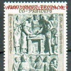 Sellos: ANDORRA FRANCESA - ARTE - MONUMENTO CONMEMORATIVO DEL 7º CENTENARIO DE CO-PRINCIPADO DE ANDORRA. Lote 120768