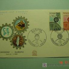 Sellos: 4716 ANDORRA ANDORRE TEMA EUROPA FDC - SPD 1967 - MIRA MAS EN COSAS&CURIOSAS. Lote 9890136