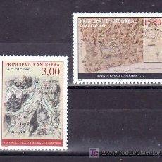 Sellos: ANDORRA FR. 508/9 SIN CHARNELA, MAPAS DE ANDORRA, . Lote 11527346
