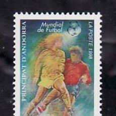 Sellos: ANDORRA FR. 507 SIN CHARNELA, DEPORTE, FRANCIA 98 COPA MUNDO FUTBOL -FINAL FRANCIA/BRASIL 3-0-. Lote 8731654