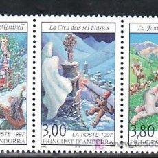 Sellos: ANDORRA FR. 495A SIN CHARNELA, LEYENDAS ANDORRANAS, . Lote 11051841
