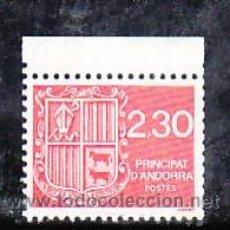 Sellos: ANDORRA FR. 387 SIN CHARNELA, ESCUDO, RELIGION, FAUNA, . Lote 8732818